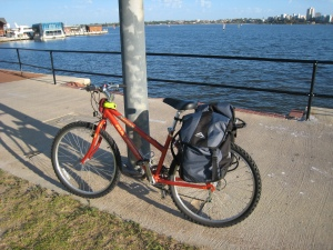 My bike with panniers