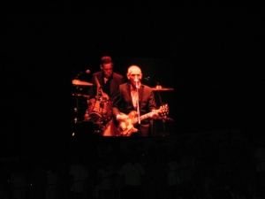 Peter Luscombe on drums behind Paul Kelly at Escape to the Park, Perth, December 2009
