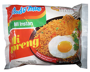 Mi Goreng noodles - the staple of the frugal diet